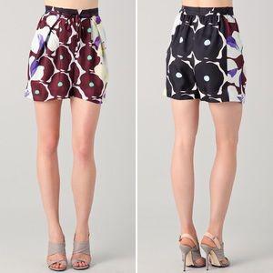 DVF Silk Donovan Floral High Waist Shorts sz10 NWT